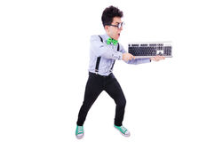 Computer geek nerd Royalty Free Stock Image