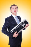 Computer geek nerd Stock Photo