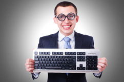 Computer geek nerd Royalty Free Stock Photography