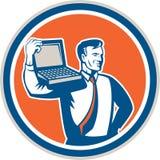 Computer Geek Technician Laptop Circle Retro Royalty Free Stock Photos