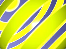Computer generated abstract 13. Computer generated abstract image of yellow and purple bands stock illustration