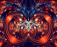 Computer generated abstract colorful fractal artwork. For creative art,design and entertainment royalty free illustration