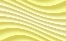 Gradient shades of soft yellow diagonal soft flowing curves lines abstract wallpaper background illustration. Computer generated abstract fractal background vector illustration