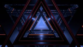 Computer generated abstract futuristic triangle corridor in low key. Computer generated abstract futuristic triangle corridor stock illustration