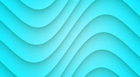 Bright blue smooth symmetric curves abstract wallpaper background illustration. Computer generated abstract wallpaper background illustration featuring a vector illustration
