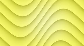 Lemon yellow smooth symmetric curves abstract wallpaper background illustration. Computer generated abstract wallpaper background illustration featuring a vector illustration