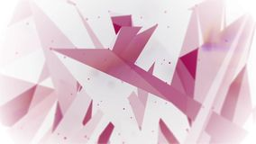 Abstract moving plexus with dots and polygons moving in a 3d space. Computer generated animated and loopable background with moving dots and polygons in a 3d royalty free illustration