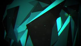 Abstract moving plexus with dots and polygons moving in a 3d space. Computer generated animated and loopable background with moving dots and polygons in a 3d stock illustration