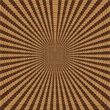 Geometric Woven Brown Tunnel Abstract Background Royalty Free Stock Photography