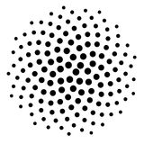 Computer Generated Black Golden Ratio Dot Pattern. Computer generated dot spiral pattern background. Use as mask or design element Royalty Free Stock Photography