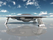 Alien Spacecraft Royalty Free Stock Photography