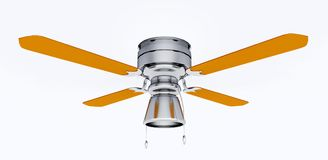 Ceiling fan isolated on white background Stock Images