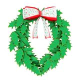 Christmas wreath isolated on white background. Computer generated 3D illustration with a christmas wreath isolated on white background Stock Images