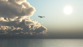 Flight into the sun Royalty Free Stock Photo
