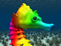 Colorful seahorse. Computer generated 3D illustration with a colorful seahorse Royalty Free Stock Images