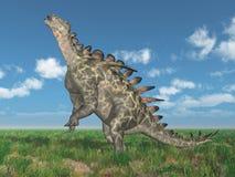 Dinosaur Huayangosaurus in a landscape vector illustration