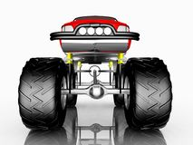 Front view of a monster truck. Computer generated 3D illustration with the front view of a monster truck against a white background Royalty Free Stock Image