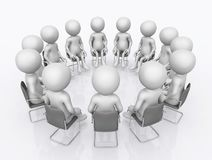 Working group with 3D figures. Computer generated 3D illustration with a group of 3D figures Royalty Free Stock Photo