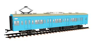 Japanese commuter train isolated on white background. Computer generated 3D illustration with a Japanese commuter train isolated on white background royalty free illustration