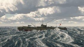 Japanese submarine of World War II Stock Photography