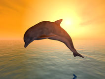 Jumping Dolphin. Computer generated 3D illustration with a jumping dolphin Stock Photography