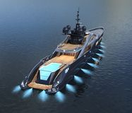 Luxury yacht. Computer generated 3D illustration with a luxury yacht Royalty Free Stock Image
