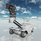 35mm movie camera dolly. Computer generated 3D illustration with a 35mm movie camera dolly Stock Image
