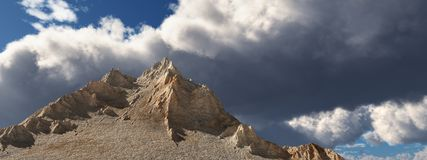 Mountain panorama. Computer generated 3D illustration with a mountain panorama Royalty Free Stock Photos