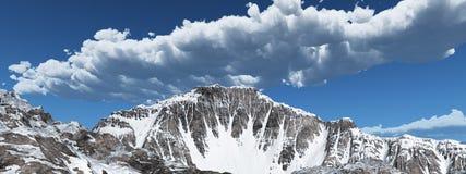 Mountain panorama stock illustration