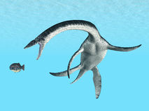Plesiosaurus. Computer generated 3D illustration with Plesiosaurus Stock Image