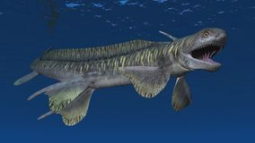 Prehistoric shark Orthacanthus. Computer generated 3D illustration with the prehistoric shark Orthacanthus Stock Photo