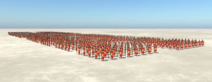 Roman army. Computer generated 3D illustration with Roman legionaries of ancient Rome stock illustration