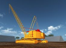 Rope crane on a construction site Royalty Free Stock Image