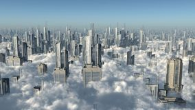 City over the clouds Stock Photo