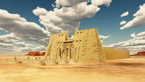Temple of Edfu in Egypt. Computer generated 3D illustration with the temple of Edfu in Egypt Stock Image