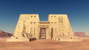 Temple of Edfu in Egypt. Computer generated 3D illustration with the temple of Edfu in Egypt Royalty Free Stock Photo