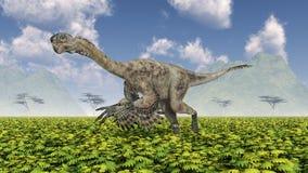 Theropod dinosaur Citipati. Computer generated 3D illustration with the theropod dinosaur Citipati Royalty Free Stock Photo
