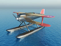 US-American seaplane from the 1920s. Computer generated 3D illustration with an US-American seaplane from the 1920s Royalty Free Stock Photos