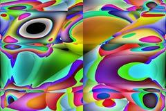 Computer generated desktop backgrounds Stock Image