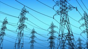 Power grid structures, pylon tower.