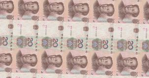 Computer generated footage with transitions of American and Chinese Banknotes stock footage
