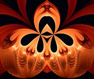 Computer generated abstract colorful fractal artwork. For creative art,design and entertainment stock illustration