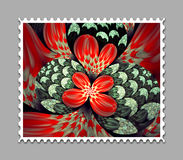 Computer generated fractal artwork stamp template. Computer generated stamp template with fractal artwork for creative use in art,design and entertainment Stock Photography