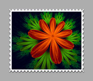 Computer generated fractal artwork stamp template. Computer generated stamp template with fractal artwork for creative use in art,design and entertainment Stock Photo