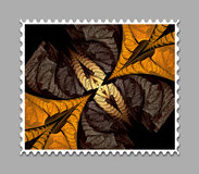 Computer generated fractal artwork stamp template. Computer generated stamp template with fractal artwork for creative use in art,design and entertainment Royalty Free Stock Photo