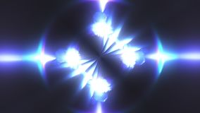 Computer generated fractal blue kaleidoscopic backdrop of twinkling blue lights, 3d rendering
