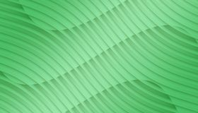 Fresh green overlapping contoured 3d lines and curves geometric abstract wallpaper background illustration vector illustration