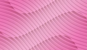Vivid bright pink overlapping contoured 3d lines and curves geometric abstract wallpaper background illustration. Computer generated geometric abstract fractal royalty free illustration