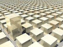 Computer Generated Golden Blocks Stock Photos