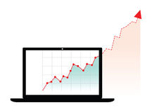 Computer generated graph Royalty Free Stock Photography